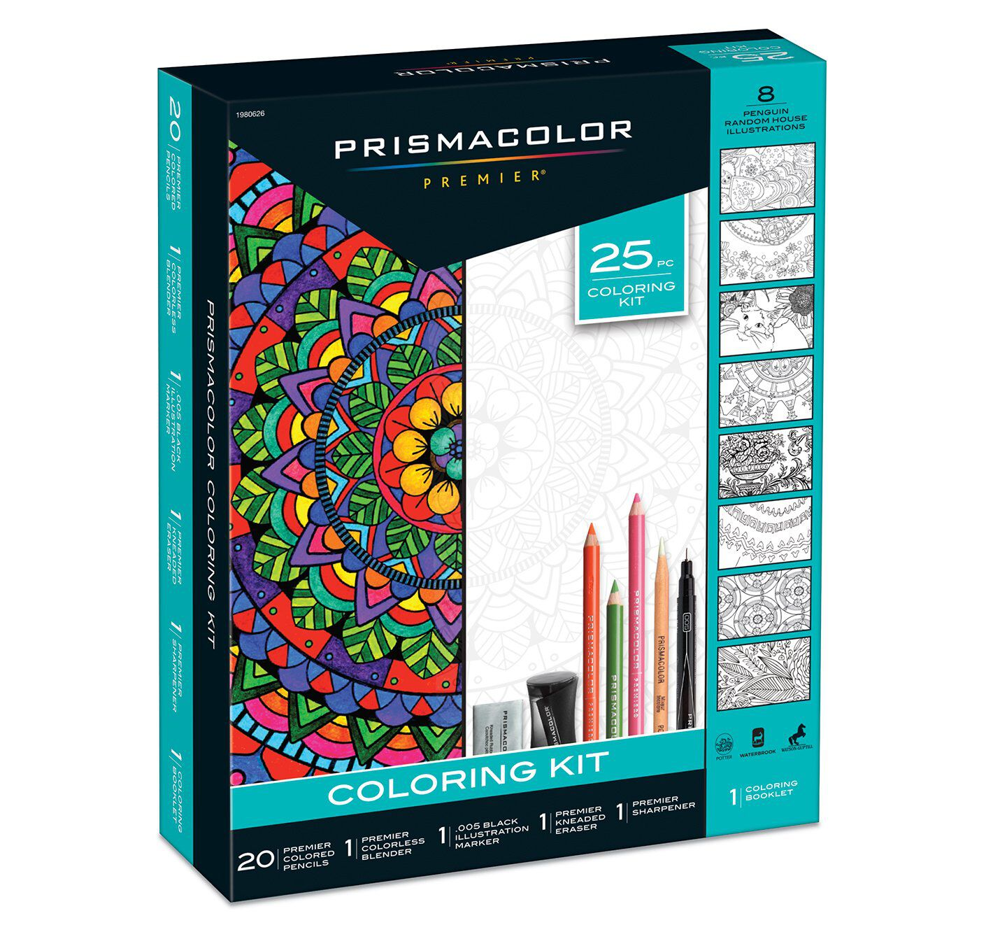 25 piece coloring kit
